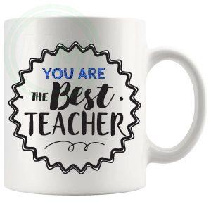 You Are The Best Teacher Mug Blue