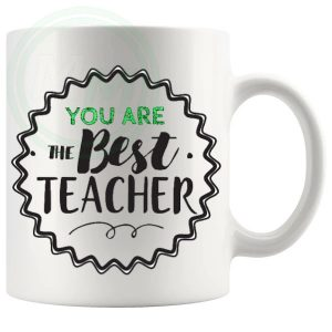 you are the best teacher mug green