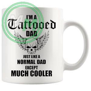 im a tattooed dad mug