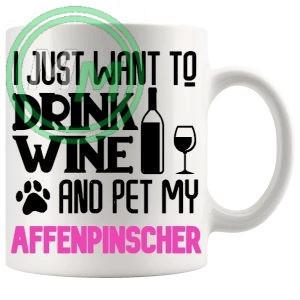 Pet My Affenpinscher Mug In Pink