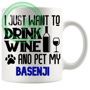 Pet My Basenji Mug In Pink