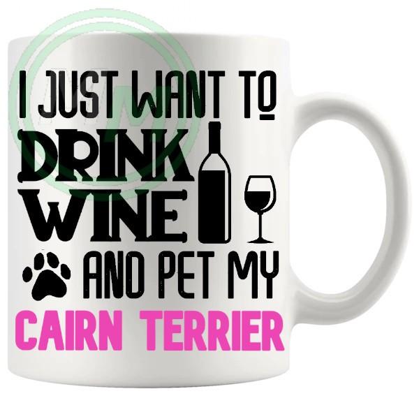 Pet My Cairn Terrier Mug Pink
