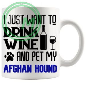Pet My Afghan Hound Mug In Blue