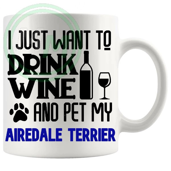 Pet My airedale terrier blue