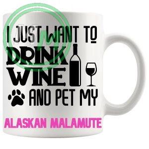 Pet My alaskan malamute pink