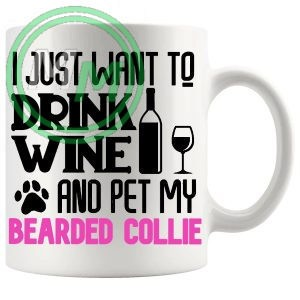 Pet My bearded collie pink