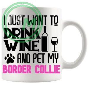 Pet My border collie pink