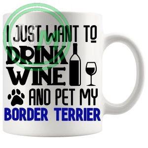 Pet My Border Terrier Mug Blue