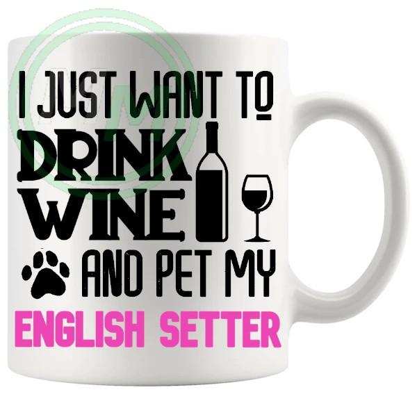 Pet My english setter pink