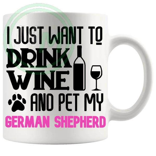 Pet My german shpeherd pink