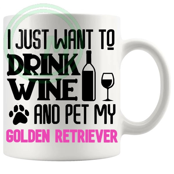 Pet My golden retriever pink