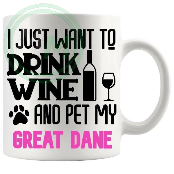 Pet My great dane pink