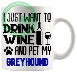 Pet My greyhound blue