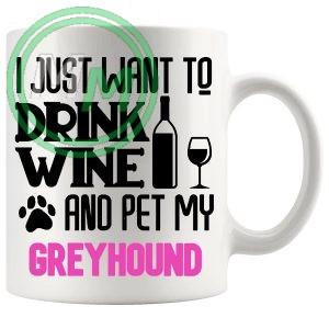 Pet My greyhound pink
