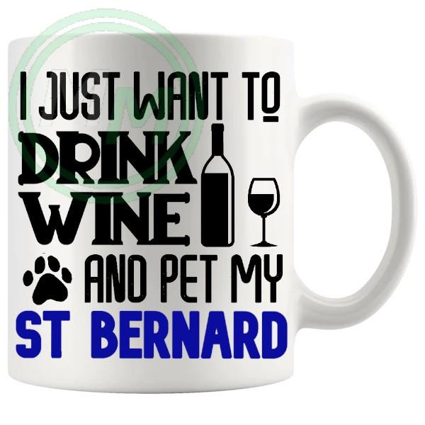Pet My st bernard blue