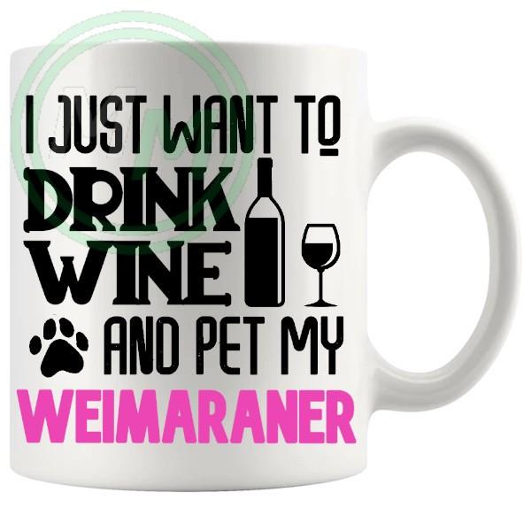 Pet My weimaraner pink