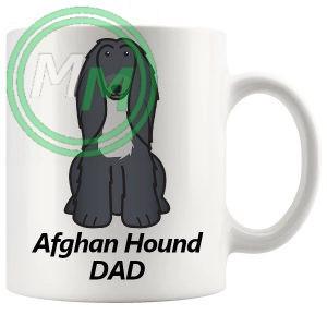 afghan hound dad mug