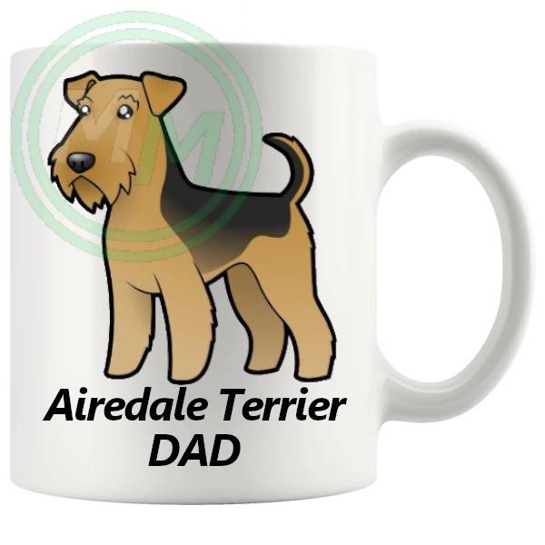 airedale terrier dad mug