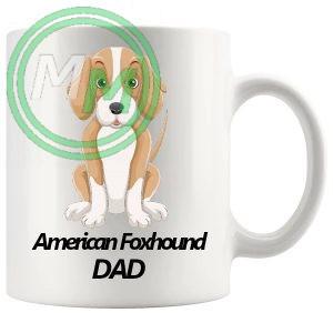 american foxhound dad mug