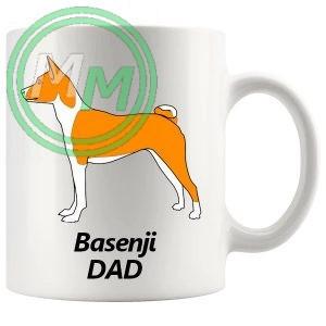 basenji dad mug