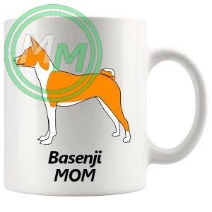 basenji mom mug