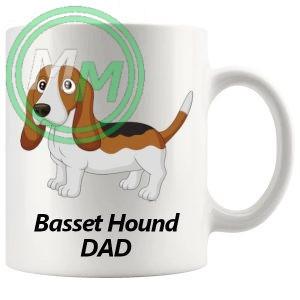 basset hound dad mug