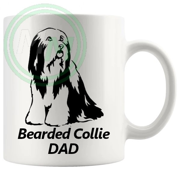 bearded collie dad mug