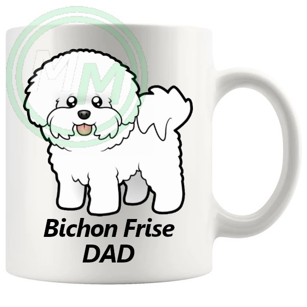 bichon frise dad mug