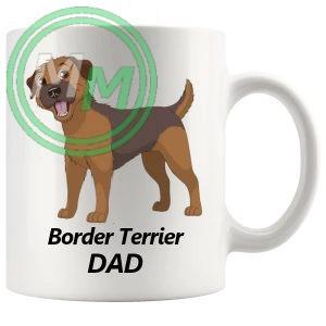 border terrier dad mug
