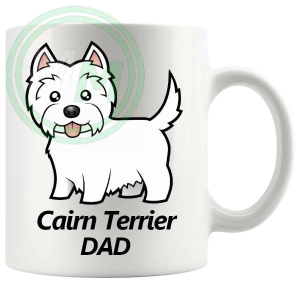 cairn terrier dad mug