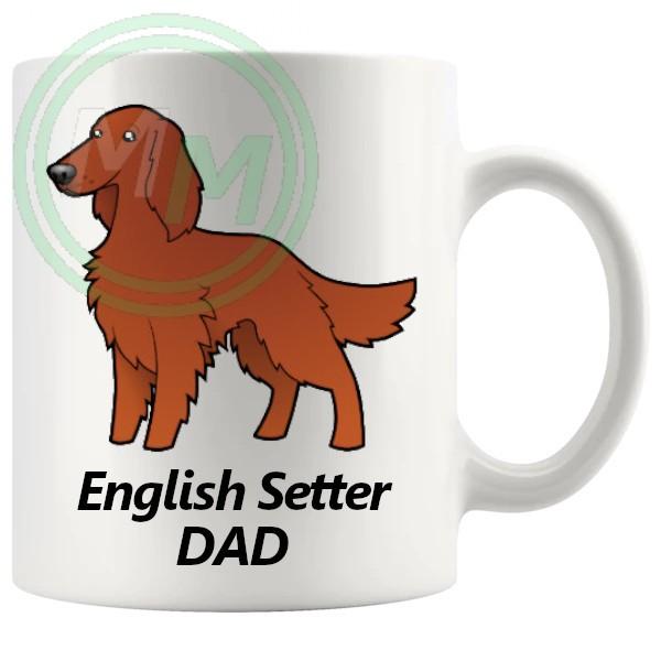 english setter dad mug