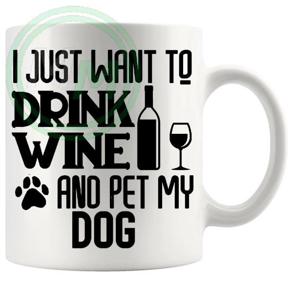 i just want to pet my dog mug