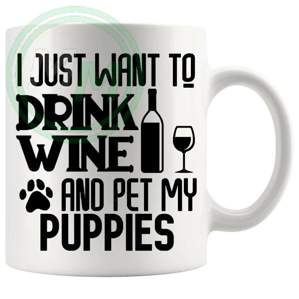 i just want to pet my puppies mug