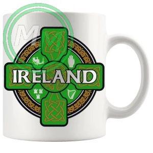 irish celtic cross mug