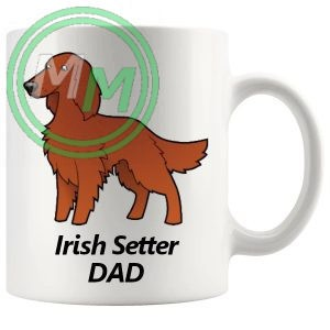 irish setter dad mug