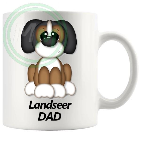 landseer dad mug