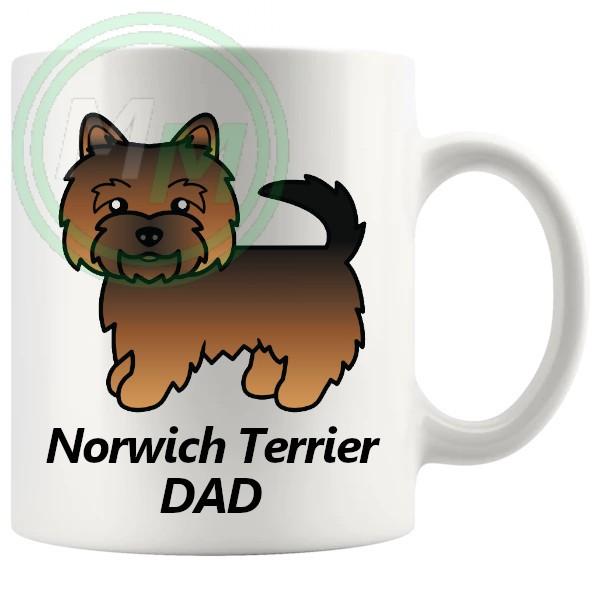 norwich terrier dad mug
