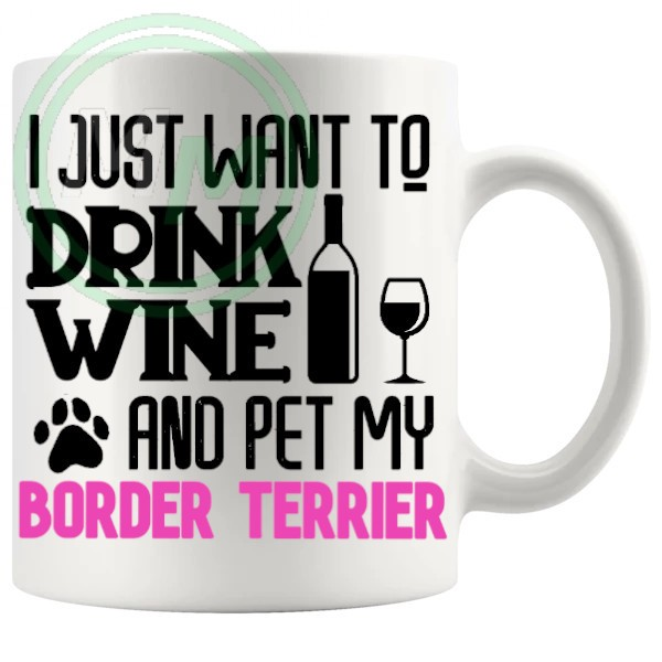 pet my border terrier pink