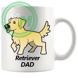 retriever dad mug