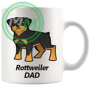 rottweiler dad mug