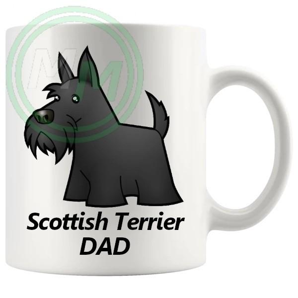 scottish terrier dad mug