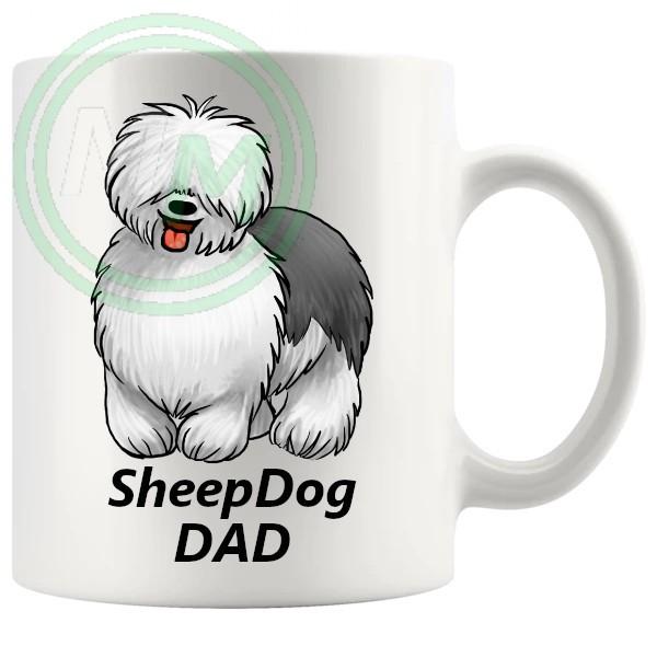 sheep dog dad mug