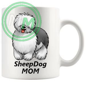 sheep dog mom mug