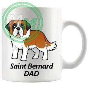 st bernard dad mug