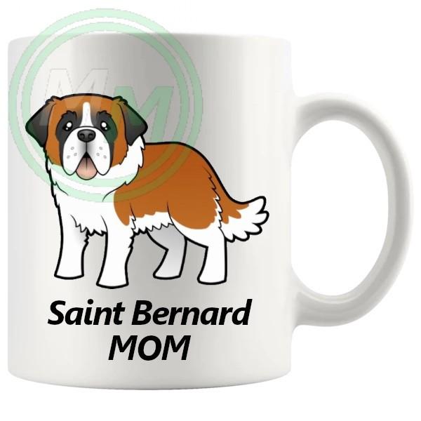 st bernard mom mug
