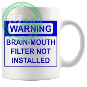 warning brain mouth filter not installed blue mug