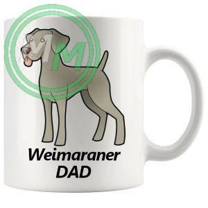 weimaraner dad mug