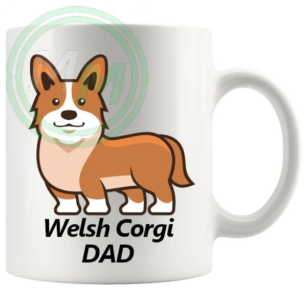 welsh corgi dad mug