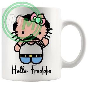 hello freddie mug
