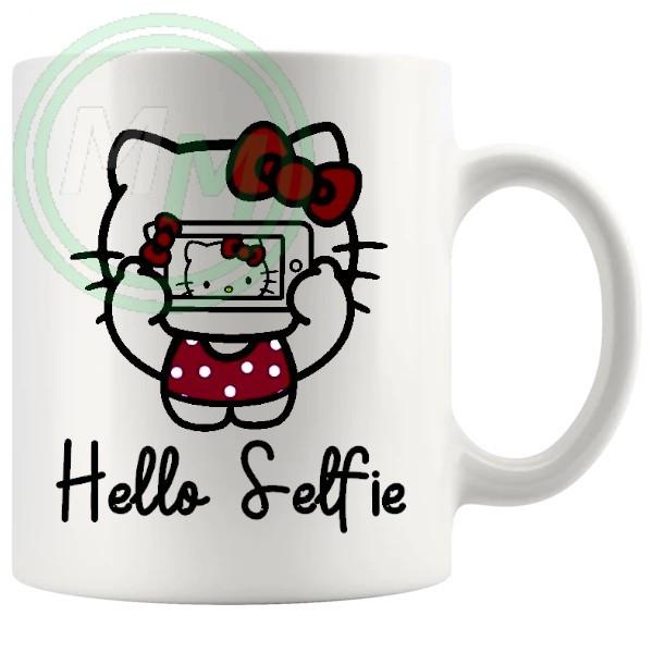 hello selfie mug